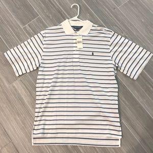 Polo Ralph Lauren Golf Shirt, M , blue stripe, NWT